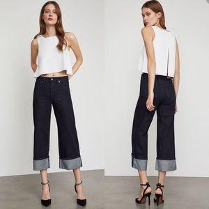 NWT BCBGMAXAZRIA Cropped Wide Leg Jeans